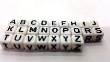 100 Pezzi 6mm Misto Alfabeto Lettera Cubo Perline-a5208
