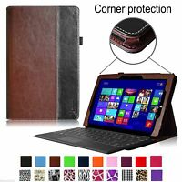 Microsoft Surface 3 10.8-inch Tablet Leather Case Cover With Keyboard Holder