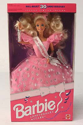 NRFB 1992 Special Limited Edition Wal-Mart 30th Anniversary Star Barbie