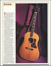 The 1939 Gibson Advanced Jumbo acoustic guitar 2001 pinup photo 8 x 11 article