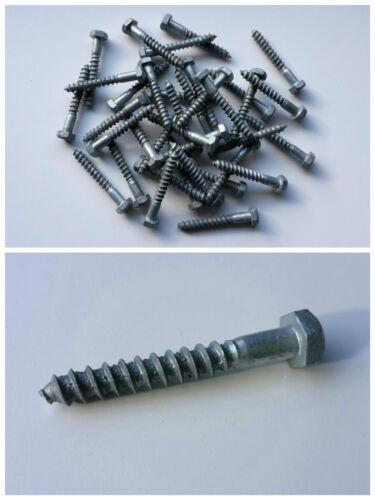 Holzschrauben M8x60 Außensechskant 25-200 Schrauben Teilgewinde feuerverzinkt
