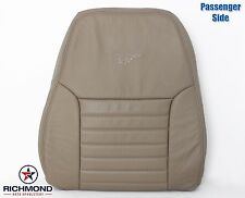 1999 2000 Ford Mustang GT V8 -Passenger Side LEAN BACK Leather Seat Cover Tan