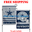 Dallas-Cowboys-Logo-Garden-Outdoor-Flag-Double-Sides-12x18-034-NFL-2019-Fan-NEW thumbnail 1