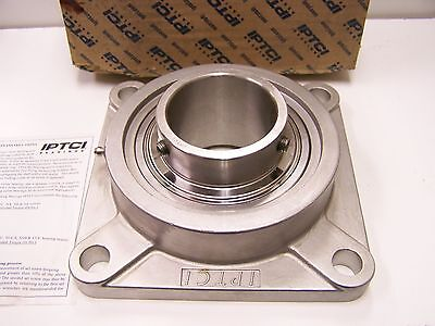 """SUCSF205-14 7//8/"""" Stainless Steel 4 Bolt Flange Bearing"""