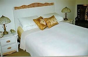 Details about 7 Piece White Rattan Wicker Bedroom Furniture Set Clean In  Pristine Condition