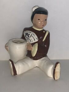 VINTAGE-MCM-Vilas-California-Pottery-Asian-Oriental-GIRL-Bud-Vase-or-Planter