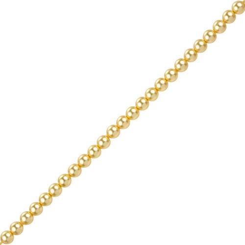 4mm swarovski rond verre cristal perles 5810 gold pack de 50 J85//7