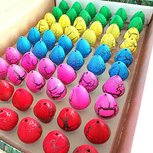 60pcs Multi-color Growing Dinosaur Eggs Hatching Egg Add Water Magic Kids Toy