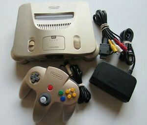 USA-Release-Gold-Toys-R-Us-N64-Nintendo-64-Retro-Video-Game-Console-Controller-A