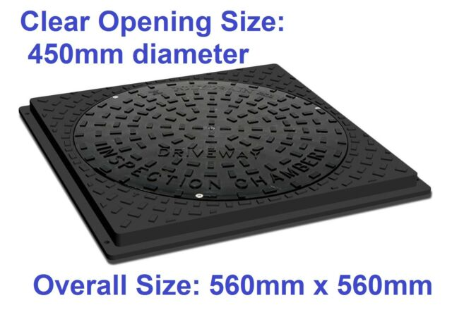 Underground Drainage 450mm Inspection Chamber Round Cover FREE P/&P OVER £20