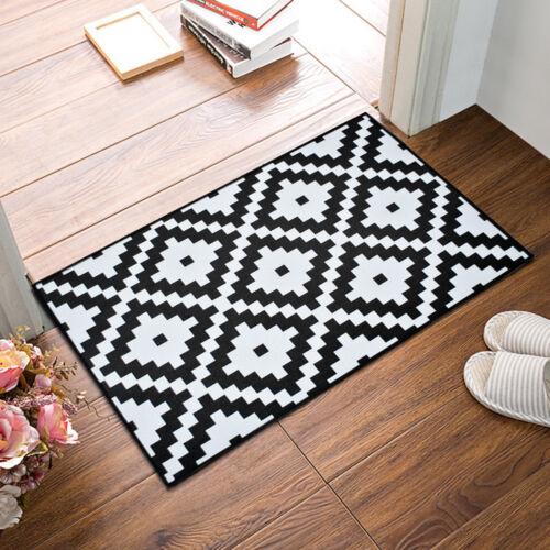 Kitchen Door Mat Soft Flannel Non-slip Rug Bathroom Carpet Floor ...