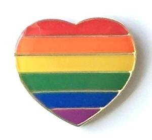 738a7aca51b Rainbow Gay Lesbian Pride Heart Metal Enamel Pin Badge LGBT Equality ...