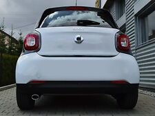 Auspuffblende Endrohr Sportauspuff Smart Fortwo Forfour Typ 453 oval ab 2014
