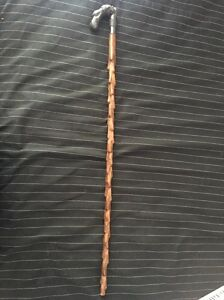 Beautiful Brass Snake Handle Comfortable Wood Walking Stick Premium Quality Cane