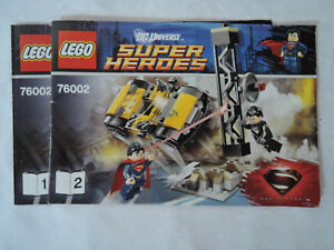 LEGO Bauanleitung / Instruction Super Heroes 76002  Heft 1+2    ungelocht