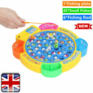 6-Rods-Electric-Music-Rotating-45-Fishes-Go-Fishing-Game-Kids-Educational-Toy