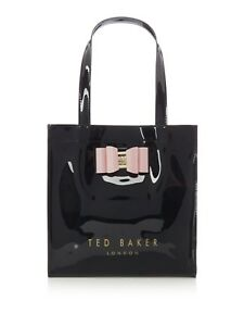 740e77c8c1075 BNWT  TED BAKER BLACK PINK BOW SMALL TOTE BAG