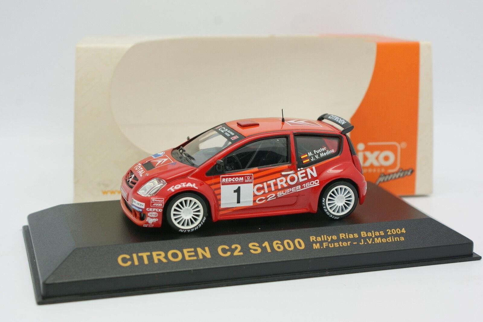 Ixo 1 43 - Citroen C2 S1600 S1600 S1600 Rias Bajas Rally 2004 6e7f1e