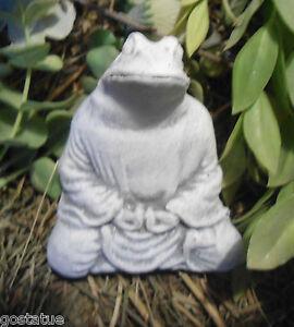Mold meditating frog buddha latex mold this mold makes a fun statue