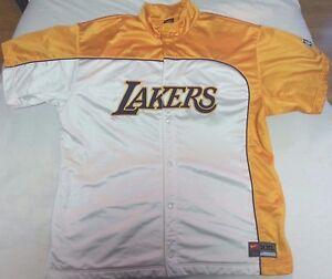 17b14c905ba Los Angeles Lakers Nike Team NBA shooting jacket men sz 2XL XXL LA ...