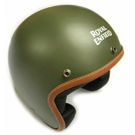 Royal Enfield Leather Edge Open Face Helmet New with Tags