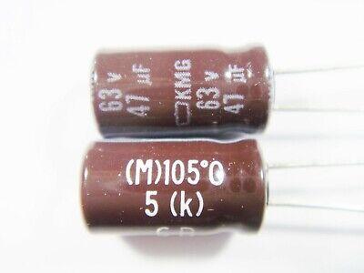 radial Ø6,3x11mm 47µF Samxon 47uF 20 Stück Elko // 63V // 105°C,