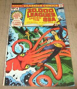 20,000 LEAGUES UNDER THE SEA Marvel Classics #4 (1975) VG- Condition Comic