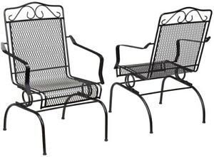 Hampton Bay Nantucket Rocking Metal Outdoor Patio Chair Dining ...