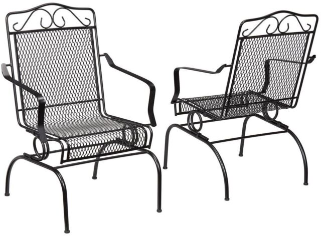 Outstanding Hampton Bay Nantucket Rocking Metal Outdoor Patio Chair Dining Chair 2 Pack Alphanode Cool Chair Designs And Ideas Alphanodeonline
