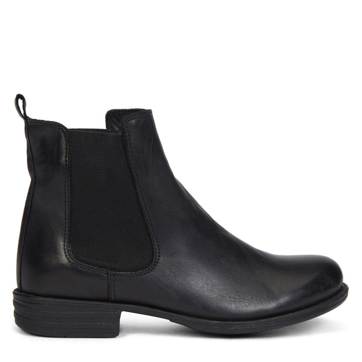 Nuevas mujeres de cuero Negro Chelsea Hibou Hibou Hibou Clásico Gore Panel Botín Zapatos Talla 10  Venta barata