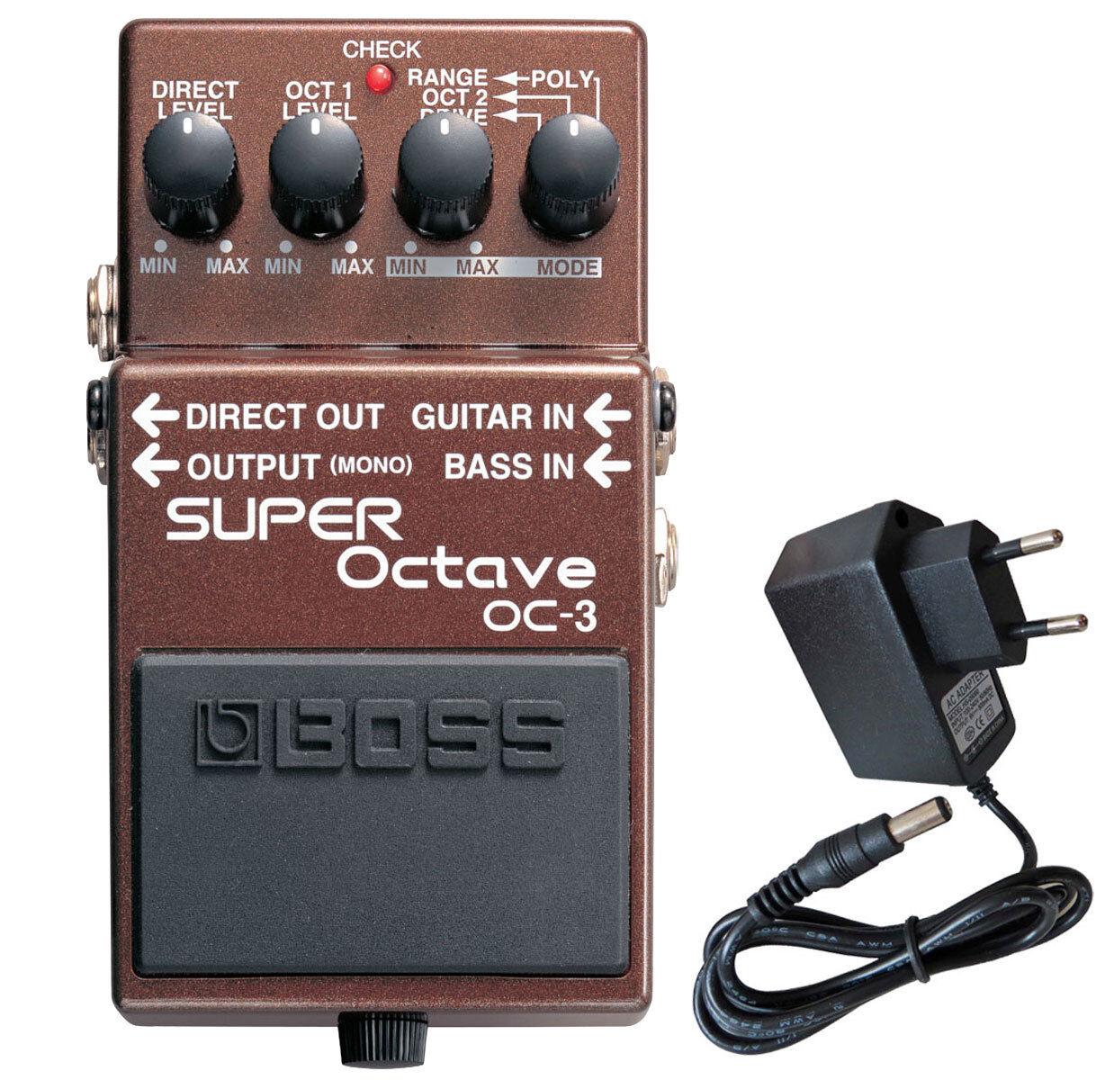Boss OC-3 Super Octave Effektgerät + Keepdrum Netzteil