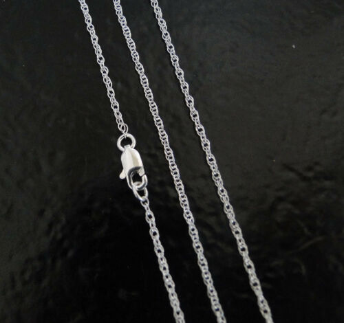 40 Inch .925 Sterling Silver 1.3mm Rope Chain Necklace Assembled by Hand