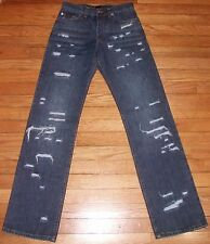 NWT $200+ Sz 28 Eu 42 26x33 Blue D&G Dolce & Gabbana Distressed Jeans! 1145