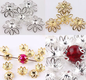 CHOOSE SILVER OR GOLD STUNNING FILIGREE BEAD CAPS YOU GET 10 FAST FREE P/&P