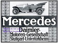 Mercedes Daimler Reklame 1911 Stuttgart Untertürkheim Benz Werbung