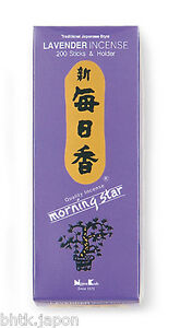 NIPPON-KODO-Morning-Star-Incienso-Japones-LAVANDA-200-varillas-puerta-incienso