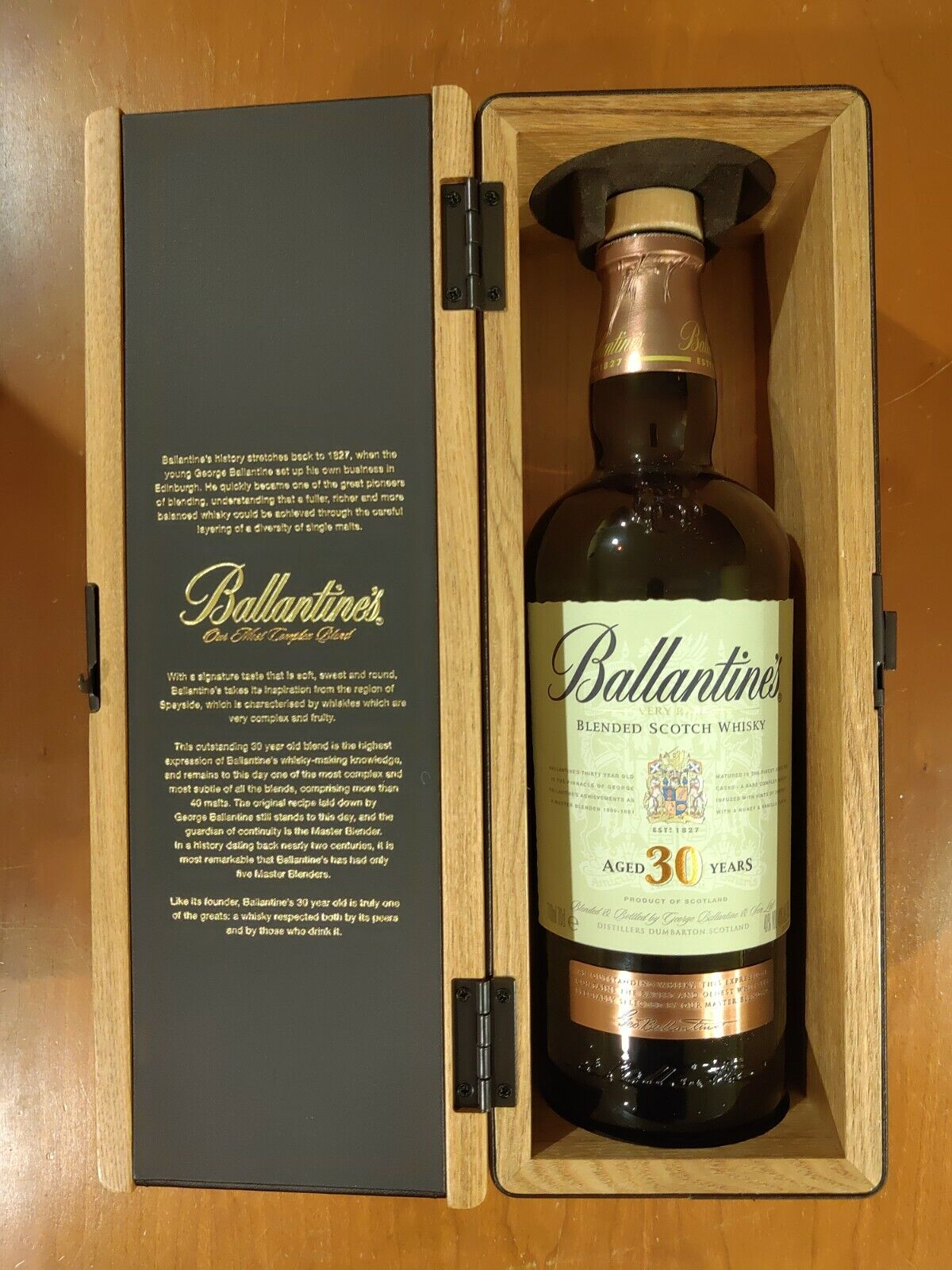 Ballantine S 30 Year Old Blended Scotch Whisky Empty Bottle No Alcohol For Sale Online