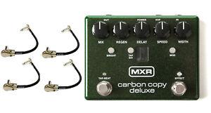 Belle Mxr Carbon Copie Deluxe Analog Delay Effets Guitare Pédale M292 (4 Câbles De Raccordement)-afficher Le Titre D'origine Produits Vente Chaude