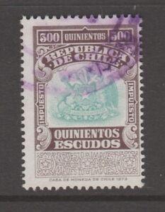 Chile-fiscal-Revenue-stamp-8-9-20-better-denomination-500-peso