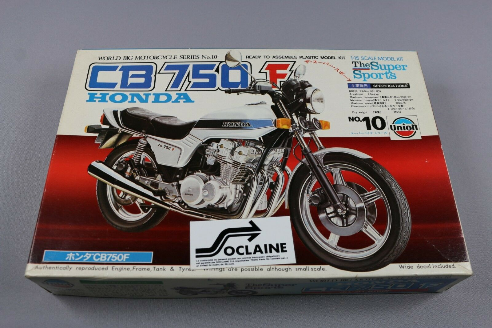 Zf1008 Union 1 15 Maqueta M-10 700 Honda Cb750f The Super Deportes Big Moto