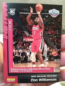2019-20-Panini-Instant-NBA-76-ZION-WILLIAMSON-Pelicans-Rookie-RC-NBA-Debut