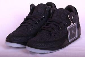 Nike Air Men s Jordan 3 Retro Flyknit Black Basketball Shoes AQ1005 ... b0ae44cd1