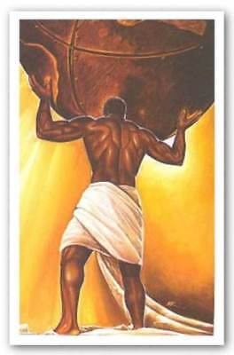 AFRICAN AMERICAN ART PRINT Power Of Woman by WAK