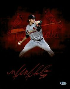 Miles-Mikolas-St-Louis-Cardinals-Signed-Autographed-11x14-Photo-w-Beckett-COA