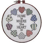 Learn-a-craft Home and Heart Stamped Cross Stitch Kit Dimensions Vintage 72408