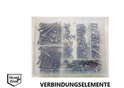 Blechschrauben Sortiment//Set 2.000 Teile DIN 7981//7982 A2 V2A Ø 2,2-2,9