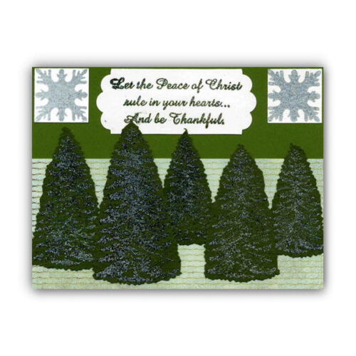 winter holiday #19 PINE TREE set of 3 UNMOUNTED rubber stamps Christmas