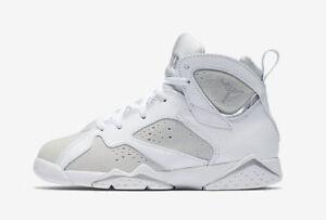 41e69ef4fa3 Nike Infant & Toddler's Air Jordan 7 RETRO BT Shoes White/Silver ...