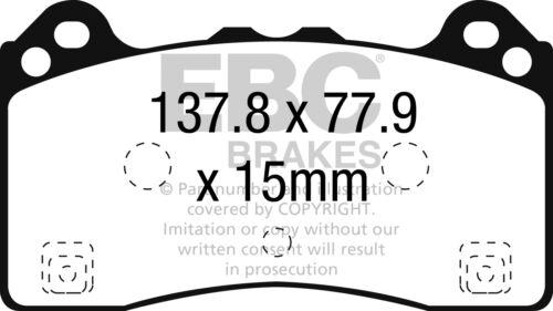 EBC Yellowstuff Sportbremsbeläge Vorderachse DP42274R für Ford Focus 3