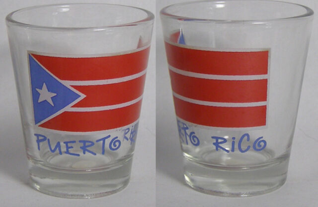 Puerto Rico Puerto Rican Flag Shot Glass #2156